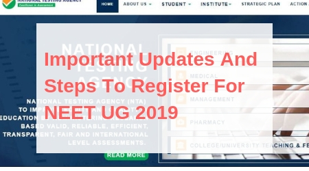 NTA is going to start NEET UG 2019 registration from toady 1